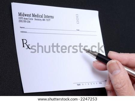 Blank Prescription - stock photo