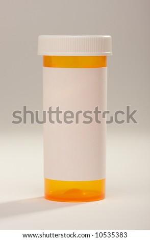 Blank Prescription Bottle - stock photo