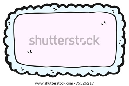 blank pretty name tag cartoon (raster version)