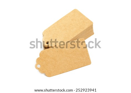 Blank price tags - stock photo