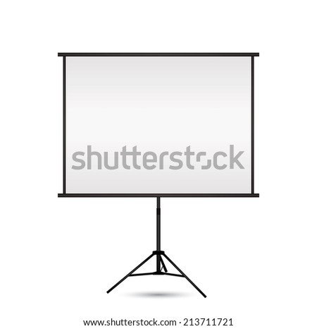 Blank projection screen with copy-space.