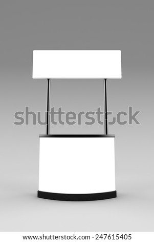 Blank promotion counter mockup.  - stock photo