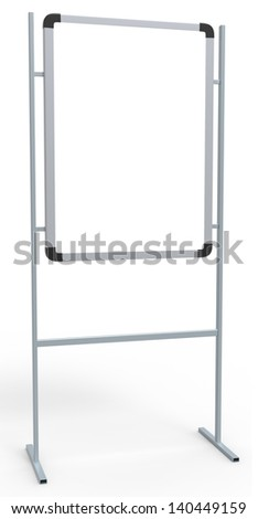Blank Promotion Stand isolated on white - stock photo