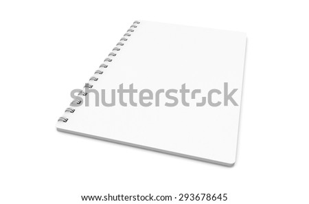blank realistic spiral notebook - stock photo
