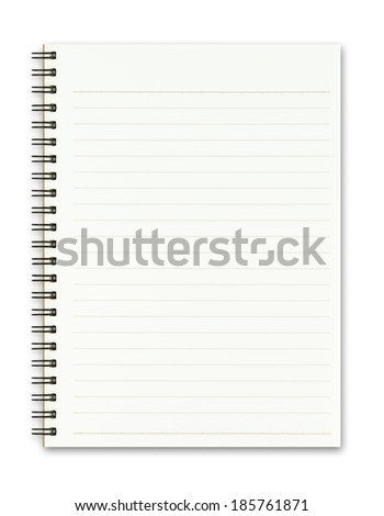 Blank realistic spiral notepad notebook isolated on white background