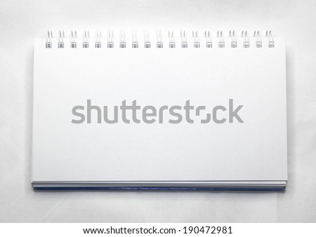 Blank realistic spiral notepad notebook on white - stock photo