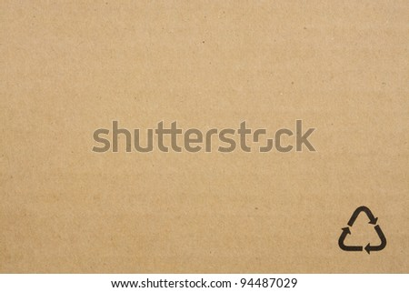 Blank recycled paper - stock photo