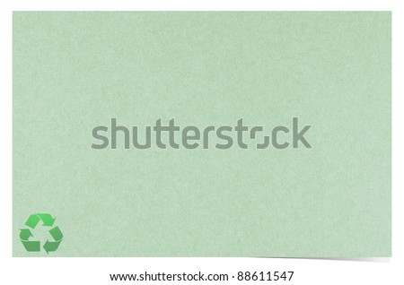 Blank recycled paper craft stick on white background - stock photo