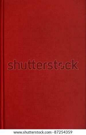 Blank red book with linen texture - stock photo