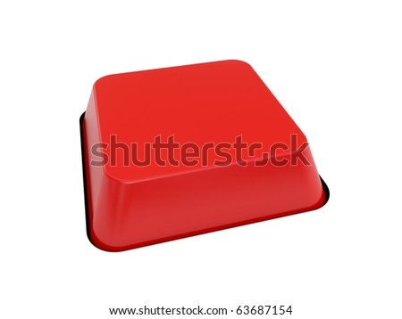 blank red button - stock photo