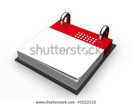 blank red calendar icon isolated