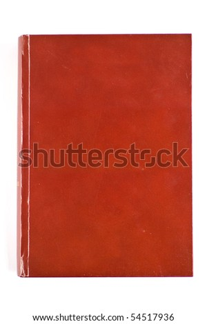 Blank red cover book isolated on white and ready for your creative work