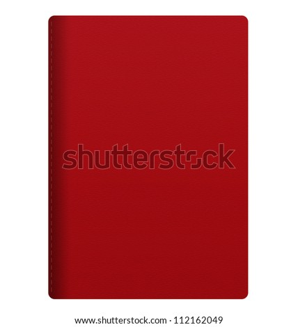 blank red passport isolated on white background - stock photo