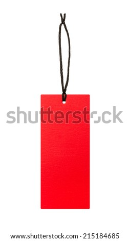 Blank red price label - stock photo