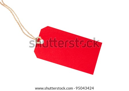 Blank Red Tag - stock photo