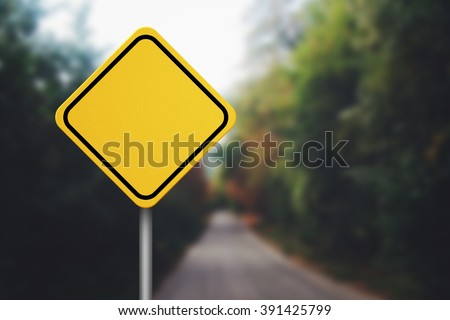 Blank Road Sign - stock photo