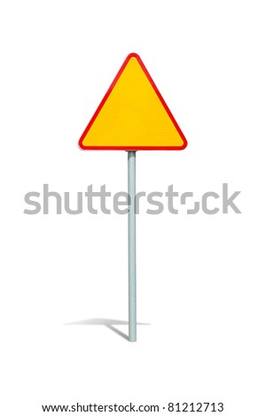 Blank road sign with clipping path - stock photo
