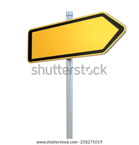 blank road signs - stock photo