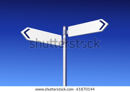 Blank road signs -  vector edition in portfolio - stock photo