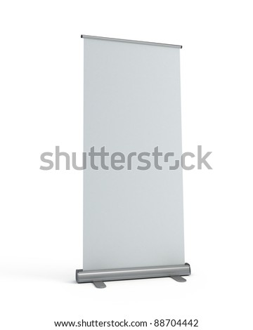 Blank roll-up display banner template