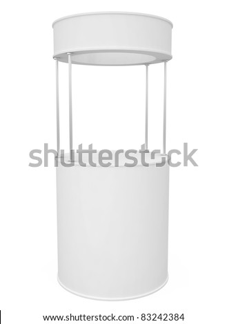 Blank Round Stand isolated on white - 3d illustration - stock photo