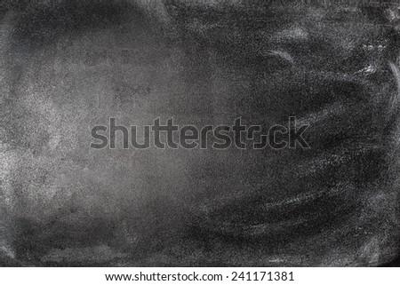 Blank School Black Chalkboard Background Texture - stock photo