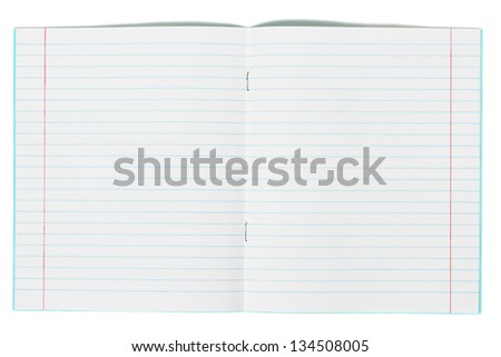 Blank school exercise notebook book jotter - stock photo