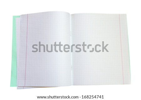 Blank school notebook