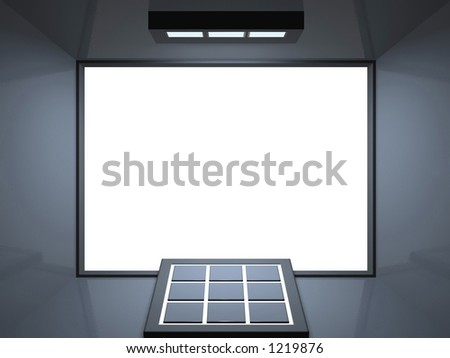 Blank screen cinema with remote control - for multimedia and www presentations