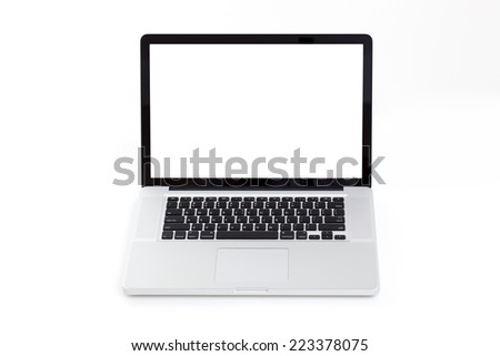 Blank screen laptop computer