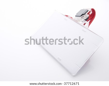 Blank security card isolated on white. For adding your message or corporate information of your choice. - stock photo