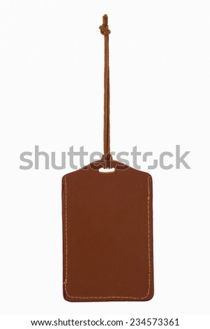 blank security tag with neck band Isolated on white background. - stock photo