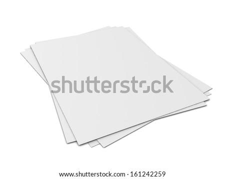 blank sheet isolated on white background - stock photo