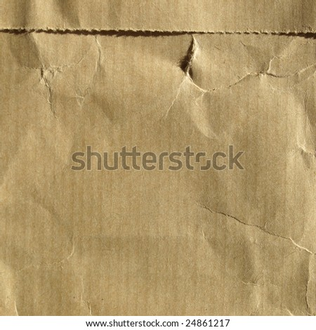 Blank sheet of brown paper - stock photo