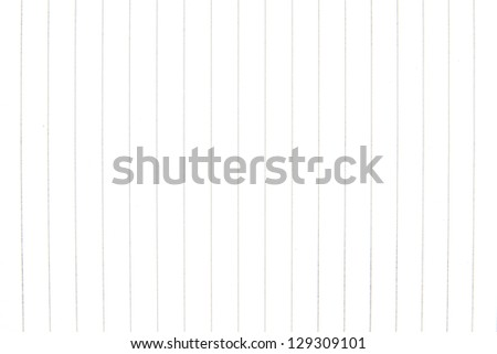 Blank sheet of notebook with horizontal fields for writing - stock photo