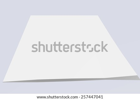 Blank sheet of paper - stock photo