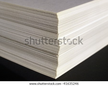 Blank sheets of A4 paper for office use