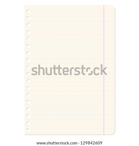 Blank sheets of paper sheet in line.  illustration. - stock photo