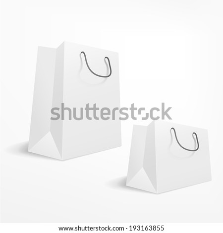 blank shopping bag on white background