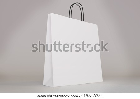 Blank shopping bag template with clipping path for you to show off your design - stock photo