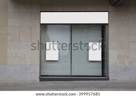 Blank showcase in an office, for free promo - stock photo