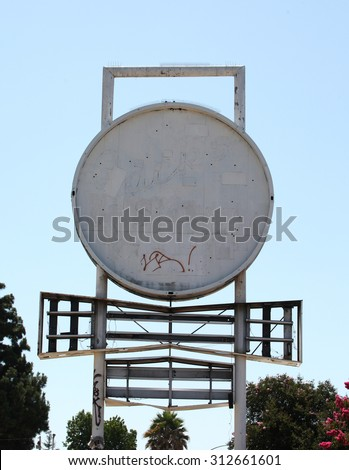 Blank sign. - stock photo