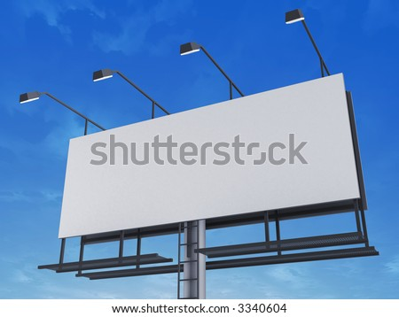 blank sign - stock photo