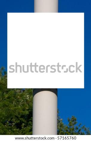 Blank sign. - stock photo