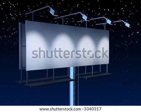 blank sign at night - stock photo