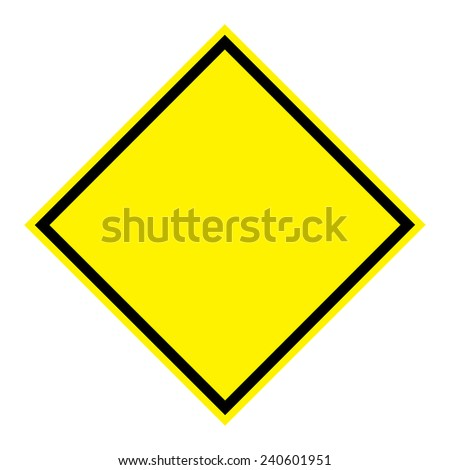 Blank sign board on white background