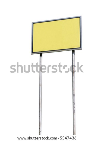 Blank sign isolated over white background - stock photo