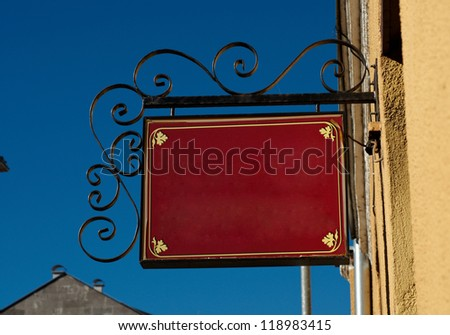 Blank sign of a cafe restaurant - stock photo