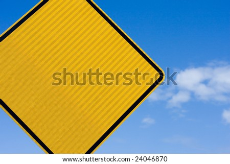 Blank sign, with copy space. Put your own text in. - stock photo