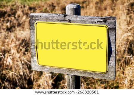 blank sign with space for text - stock photo
